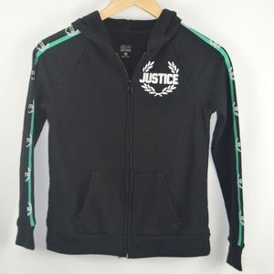 Justice Shirts & Tops - Girl's Black (Justice Logo) Hoodie